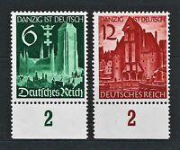 DR Nazi WWII Germany Rare WW2 MNH Stamps 1939 Hitler Danzig is German Propaganda