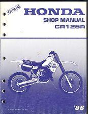 1986 HONDA CR125R  FACTORY MOTORCYCLE SERVICE MANUAL
