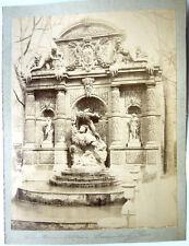 GRANDE PHOTO 1885 FONTAINE MÉDICIS JARDIN DU LUXEMBOURG PARIS ARCHITECTURE pas5