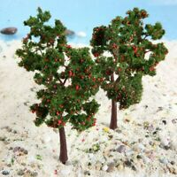10Pcs Trees Model Train Red Fruit Model Trees Scenery Landscape Scale Decoration