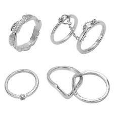 Set 6 Pcs Lot of Phalanx Rings Fleche Moon Midi with Pearl Fancy Jewelry Bo E3R7