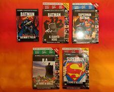 DC COMICS LE GRANDI STORIE DEI SUPEREROI. SUPERMAN, BATMAN. 5 VOLUMI