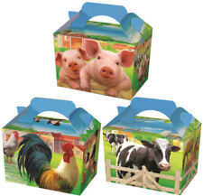 20 Farm Animal Party Boxes - Food Loot Lunch Cardboard Gift Kids
