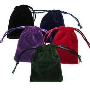 1 x Drawstring Velvet Pouch Pendulum Bag Mojo Jewellery Favours Bag 90 x 65mm