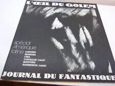 l'oeil du golem , journal du fantastique  n°7/8   (eta2)