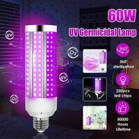 60W 110V UV Germicidal Corn Lamp LED Bulb E26-27 Home Ozone Disinfection Light