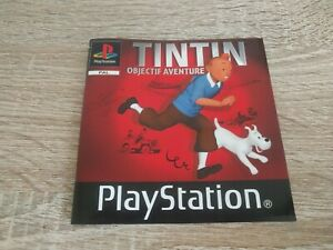 Tintin Objectif Aventure - Sony Playstation 1 PS1 Manual Only Notice Adventure