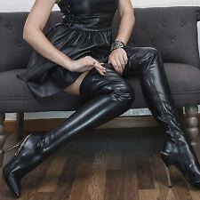 cuissardes sexy moulantes talons 11cm : noir : sergio todzi