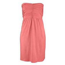 Robe d'été Jupe Taille 42/44 plage robe dress robe bandeau corail rouge