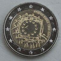 2 Euro Zypern 2015 30 Jahre Europaflagge unz.
