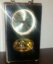 Bulova Mantle Revolving Pendulum Alarm Clock Brass Model 4RE 679