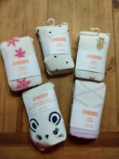 Gymboree Tights Size 12-24 Months Ivory With Prints - 5 Pairs