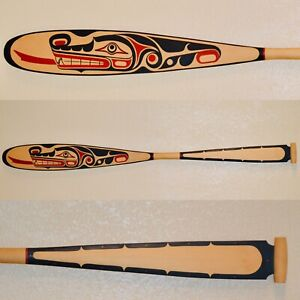 Northwest Coast Kwakwaka'wakw Cedar Paddle/Oar by Donald Svanvik, Signed 1999