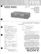 Sony Original Service Manual für TC-FX 110