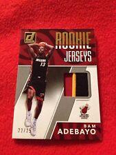 2017 Donruss Rookie Jerseys Bam Adebayo Game Used Patch! /25 Heat Retail! Rare