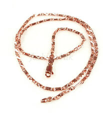 Unisex 46cm Rose Gold Plated Lobster Clasp Detail Cut Small Chain Necklace