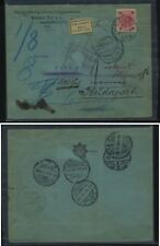 Austria  nice  redirected  cover , many  markings      MS0129