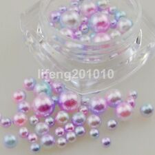 1 Pot glitter nail art decorations pearl beads jewelry nails accessoires pink
