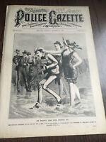 FRANK JAMES TRIAL 1883 National Police Gazette newspaper rare PHOTO JESSE