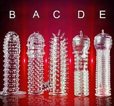 Silicone Male Condom Reusable Sleeve Textured Permanent Bump G-Point Spike SOFT