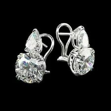 1 Ct Round Cut D/vvs1 14k White Gold Over Stud Earrings