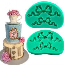 Bowknot Ribbon Silicone Fondant Chocolate Mould Cake Decor Icing Sugarcraft Mold
