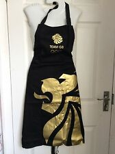 OFFICIAL OLYPMIC BLACK GOLD LION FATHER DAD'S BBQ baking APRON pinny BNWT new