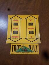 Troy-Bilt Tiller Decal for older models