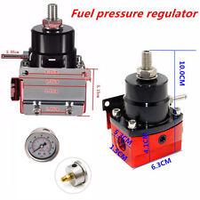 Car Adjustable Fuel Pressure Regulator + 160psi 1/8 NPT Gauge AN 6 Fitting End