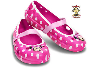 Crocs Shoes Kids Girls Minnie Mouse Limited Edition C6 Brand New & Authentic