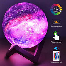 16 Colors Galaxy LED Lamp Moon Light 3D Remote Control USB Desk Night With Stand