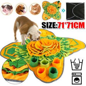 Pet Dog Snuffle Mat 71*71cm Training Sniffing Pad Puzzle Toy Blanket Washable UK