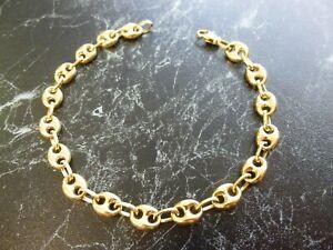 Bracelet en or 18 K maille grain de café  poinçon tete d aigle  ( 11,20 gr)