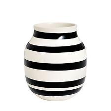 Kähler Design Omaggio Vase M weiß-schwarz weiß/schwarz ø 16,5 cm, h 20 cm