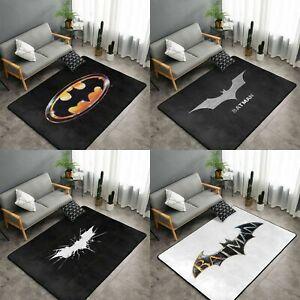 Batman Logo Rug Anti-Slip Large Rug Floor Mat Living Room Bedroom Soft Carpet