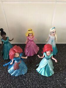 5 X Disney Princess Magiclip Magic Clip Dolls Bundle