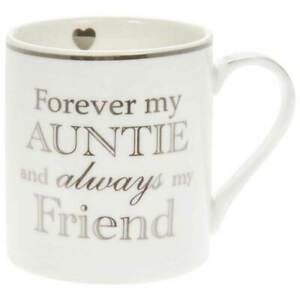 Fine white mug with silver wording Forever my range 6 designs Gift boxed New