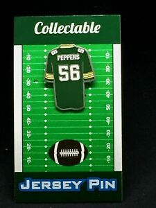 Green Bay Packers Julius Peppers jersey lapel pin-Classic CHEESE Collectible