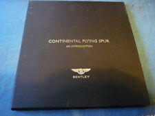 """RARE, BENTLEY CONTINENTAL FLYING SPUR PRESS KIT, INTRODUCTION """"BROCHURE"""""""