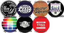 "PAIR (2) CLASSIC HOUSE LABELS  12"" DJ SLIPMATS slipmat acid house rave techno"