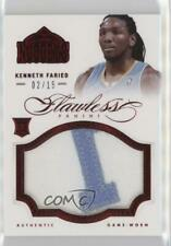 2012-13 Panini Flawless Ruby /15 Kenneth Faried #2 Rookie Patch