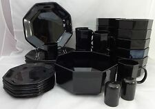 ARCOROC Crystal OCTIME BLACK pattern 47-piece SET SERVICE
