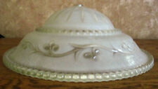 """Vtg Ceiling Light Fixture Lamp Shade Cover Frosted Textured Vine Glass 12.25"""""""