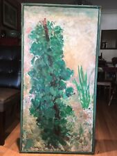 "Sam Amato Acrylic on canvas,"" Nature"", 48 x 24 inchs,  1993"
