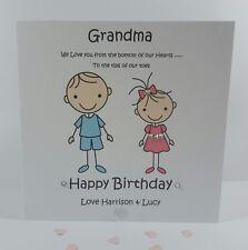 Personalised Handmade Grandma Gran Nan Nanny 50th 60th 70th Birthday Card