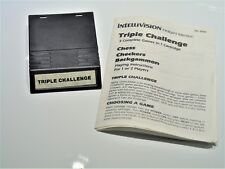 Intellivision Triple Challenge INTV Intellivision Video Game System Manual
