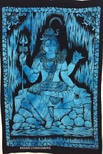 Indian Hindu God Shiva Tapestry Wall Hanging Lord Shiv Hippie Cotton Poster Deco