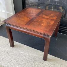 VINTAGE HERITAGE HENREDON PETITE ASIAN MAHOGANY WOOD SIDE TABLE 15x21