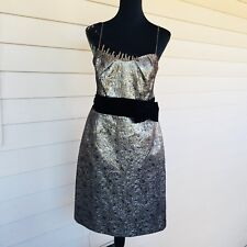 JS collections Formal Gold Brocade Cocktail/Prom Dress Size 12