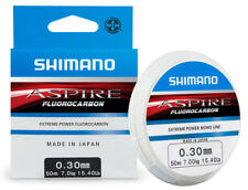 SHIMANO ASPIRE FLUOROCARBON MONO FISHING LINE HOOKLENGTH 0.12mm - 0.40mm 50m
